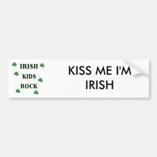 Irish Kids Rock Bumper Sticker