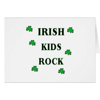 Irish Kids Rock Card