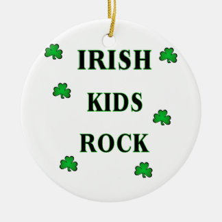 Irish Kids Rock Ceramic Ornament