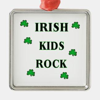 Irish Kids Rock Christmas Ornaments