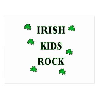 Irish Kids Rock Postcard