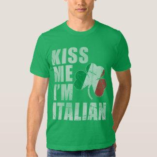Irish Kiss Me I'm Italian St Patrick's Day T Shirt
