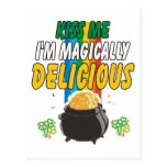 Irish - Kiss Me I'm Magically Delicious T-Shirt Postcard