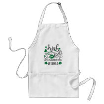 Irish Kisses and Shamrock Wishes Adult Apron