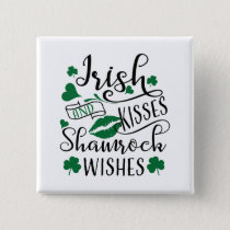 Irish Kisses and Shamrock Wishes Button