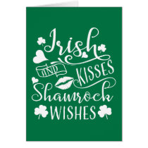Irish Kisses and Shamrock Wishes Card