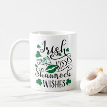 Irish Kisses and Shamrock Wishes Coffee Mug