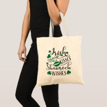Irish Kisses and Shamrock Wishes Tote Bag