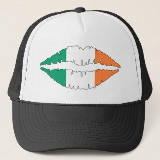 Irish Kissing Lips Trucker Hat