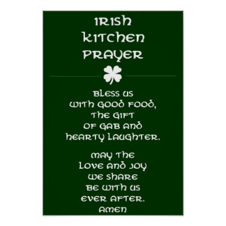 Irish Kitchen Prayer Poster