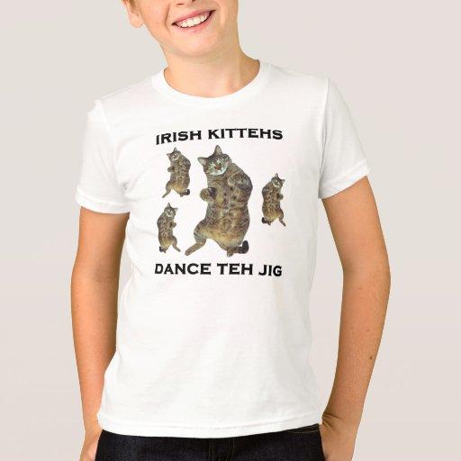 Irish Kittehs Dance Teh Jig T-Shirt
