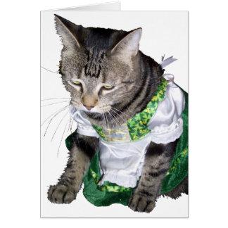 Irish kitty/leprechaun got away card