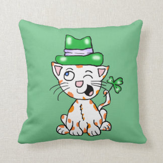 Irish Kitty Pillow