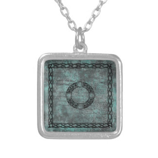 Irish Knot Designs Square Pendant Necklace