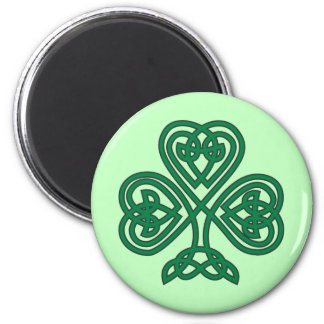 Irish Knotwork Shamrock Fridge Magnet