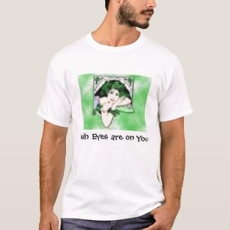 Irish Lady pic, Irish Eyes are on You - Customized T-Shirt