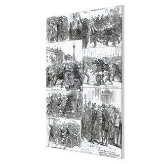 Irish Land League Agitation Canvas Print
