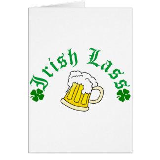 Irish Lass Beer Card