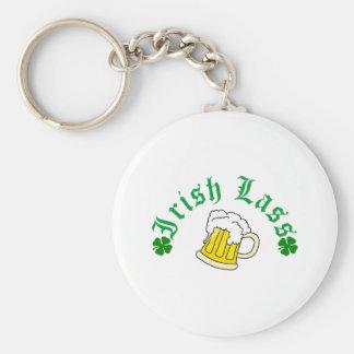 Irish Lass Beer Keychain