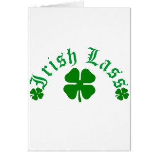 Irish Lass Card