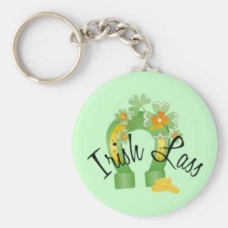 Irish Lass Lucky Horseshoe Keychain