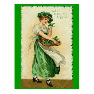 Irish Lass Postcard