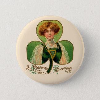Irish Lass St. Patrick's Day Button