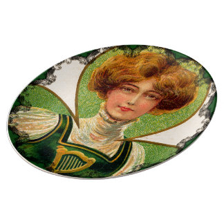 Irish Lass St. Patrick's Day Porcelain Plate