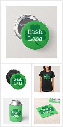Irish Lass St. Patrick's Day Shamrock