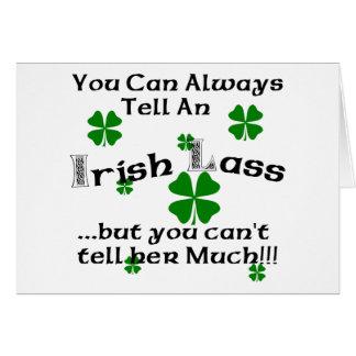 Irish Lass - You Can Always Tell.. Card