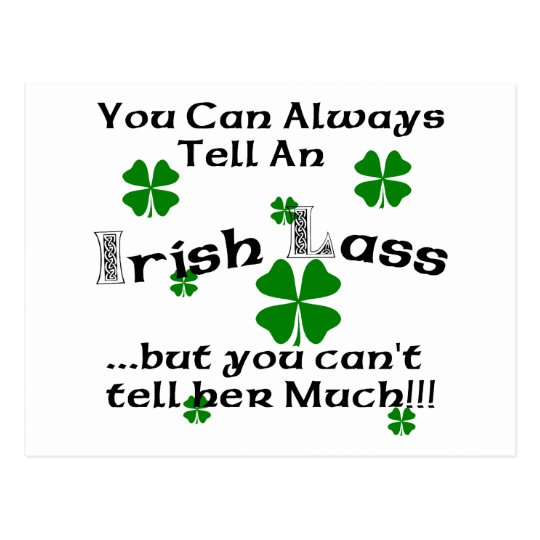 Irish Lass - You Can Always Tell.. Postcard