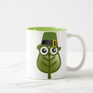 Irish Leaf Coffee Mugs