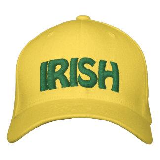 IRISH - Lemon Yellow Hat w/ Green Stitched Letters