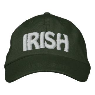 IRISH - Lemon Yellow Hat w/ White - CUSTOMIZABLE!