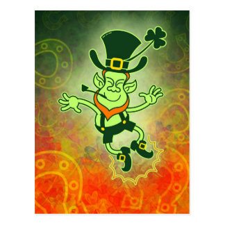 Irish Leprechaun Clapping Feet Postcard
