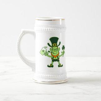 Irish Leprechaun Drinking a Toast Beer Stein