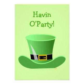 Irish Leprechaun Hat Funny St Patrick s Day Party Custom Invitation