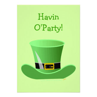 Irish Leprechaun Hat Funny St. Patrick's Day Party Custom Invitation
