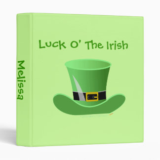 Irish Leprechaun Hat Lucky St. Patrick's Day Binder