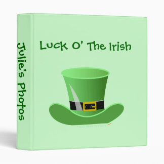 Irish Leprechaun Hat Lucky St. Patrick's Day Binder