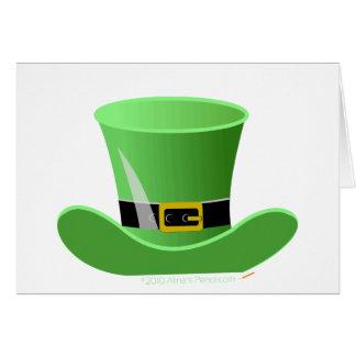 Irish Leprechaun Hat Lucky St. Patrick's Day Card