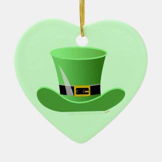 Irish Leprechaun Hat Lucky St. Patrick's Day Ceramic Ornament
