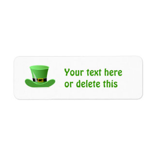 Irish Leprechaun Hat Lucky St. Patrick's Day Label