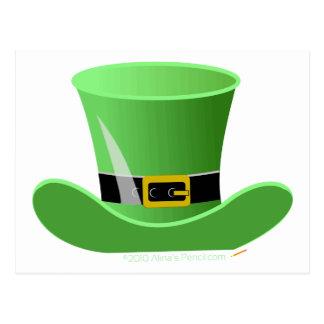 Irish Leprechaun Hat Lucky St. Patrick's Day Postcard