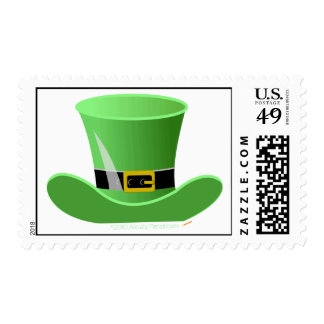 Irish Leprechaun Hat Lucky St. Patrick's Day Stamps