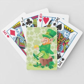 Irish Leprechaun Playing Cards