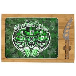 Irish Leprechaun Skull: Shenanigans Cheese Platter