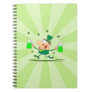 Irish Leprechaun Spiral Notebook