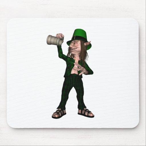 Irish Leprechaun with Tankard Mouse Pad