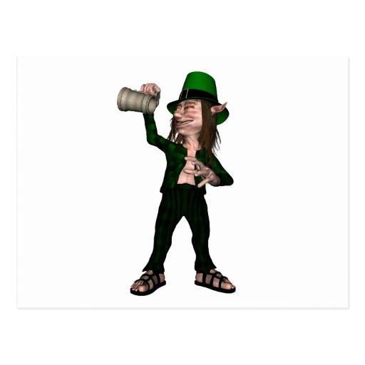Irish Leprechaun with Tankard Postcard